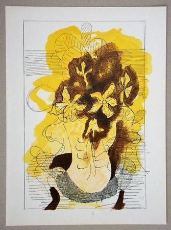 Литография Braque (After) - Vase jaune