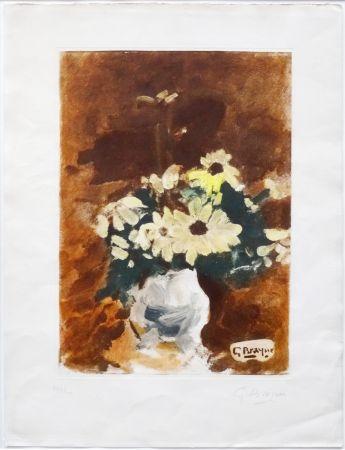 Акватинта Braque - Vases aux fleurs jaunes