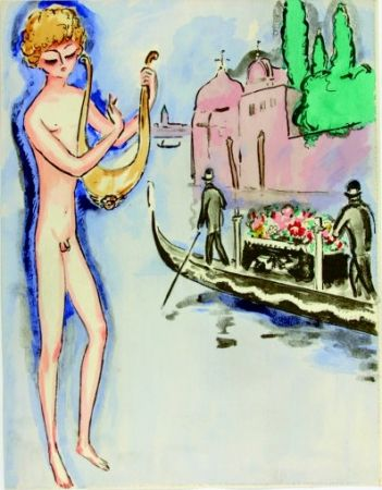 Трафарет Van Dongen - Venise- Boy with harp