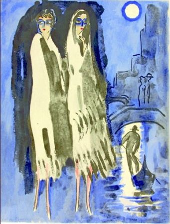 Трафарет Van Dongen - Venise- Two Woman at night