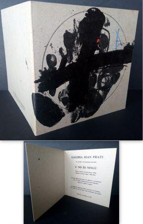 Литография Tàpies - Vernissage U no es Ningú Galería oan Prats