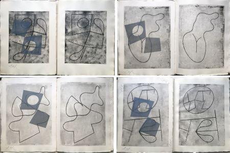 Иллюстрированная Книга Arp - VERS LE BLANC INFINI. Exemplaire unique avec les gravures signées (1960).