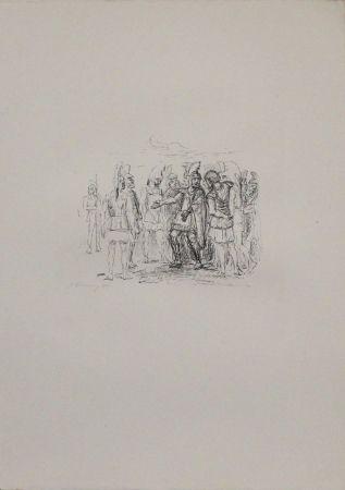 Литография Slevogt - Versammlung des Klearchos