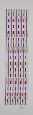 Многоэкземплярное Произведение Agam - Vertical orchestration purple