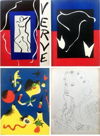 Иллюстрированная Книга Matisse - VERVE Vol. I n° 1. (couverture de Matisse).