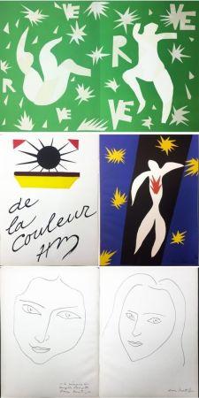 Иллюстрированная Книга Matisse - VERVE. Vol. IV, No. 13. DE LA COULEUR. La Chute d'Icare (1945).