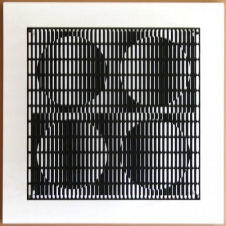 Гравюра На Дереве Asis - Vibration 4 cercles noir et blanc