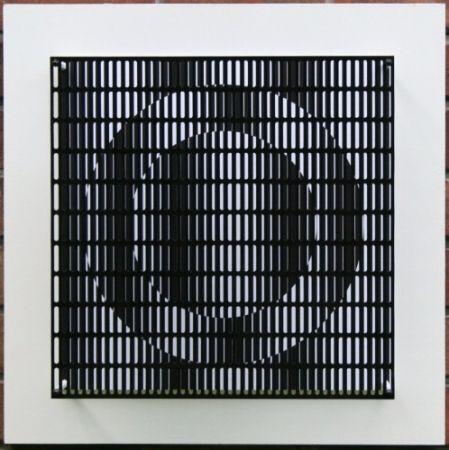 Гравюра На Дереве Asis - Vibration cercles noir et blanc