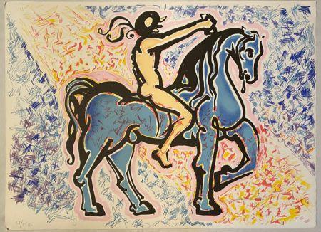 Литография Dali - Victoire de l'homme primitif