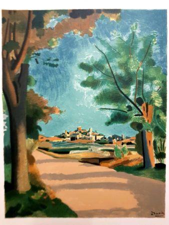 Литография Beaudin - Village de Provence