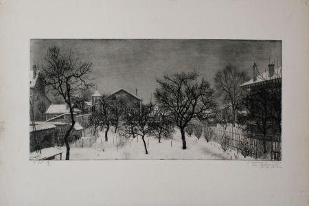 Офорт И Аквитанта Ciry - Village en hiver