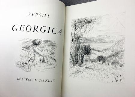 Иллюстрированная Книга De Segonzac - VIRGILE : LES GEORGIQUES - GEORGICA. 119 eaux-fotres originales (1944/47)