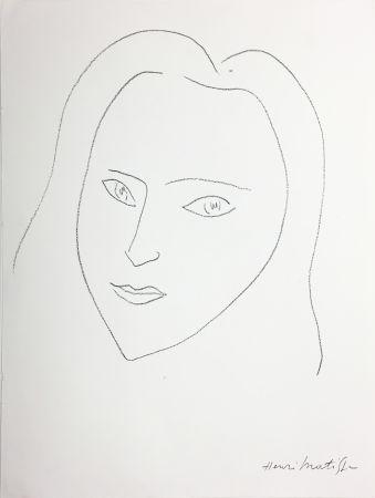 Литография Matisse - VISAGE (1943)