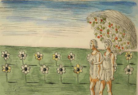 Офорт De Chirico - Visione misteriosa