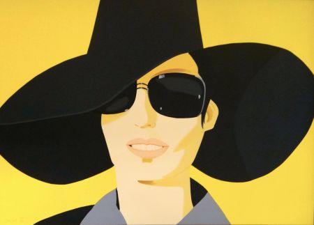 Литография Katz - Vivien In Black Hat