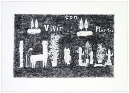 Гравюра Kaga - Vivir con plantas