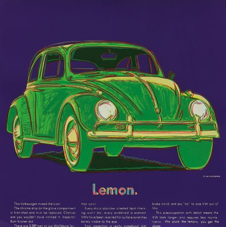 Сериграфия Warhol - Volkswagen