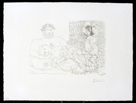 Гравюра Picasso - Vollard Suite – Sculptor and Model