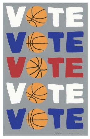 Сериграфия Wood - Vote