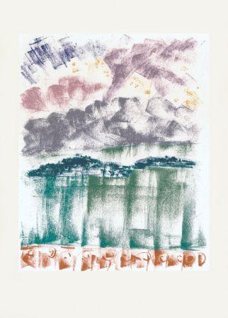 Литография Masson - Voyage à Venise : La nuit à Bellagio