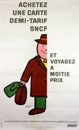 Литография Savignac - Voyagez à Moitié Prix