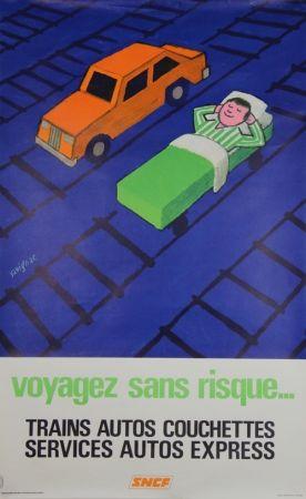 Литография Savignac - Voyagez sans Risques