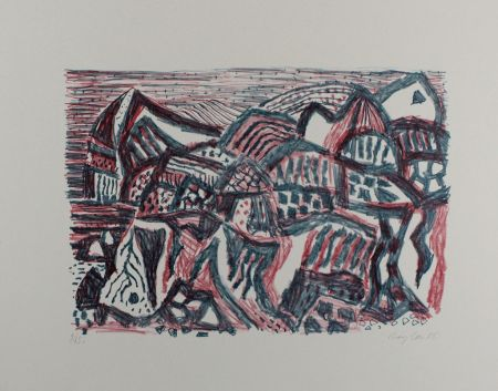Литография Bargheer - Vulkanische Landschaft