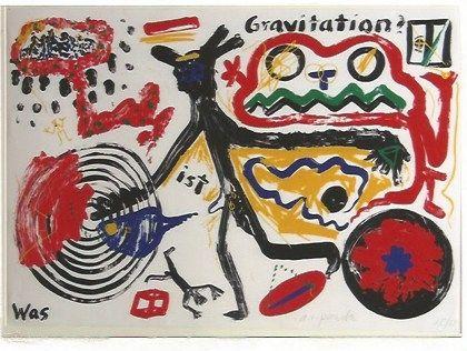 Сериграфия Penck - Was ist Gravitation
