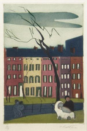 Гравюра Rathbone - Washington Square, NY