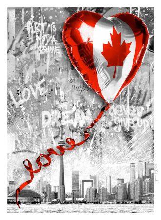 Сериграфия Mr. Brainwash - We Love Canada