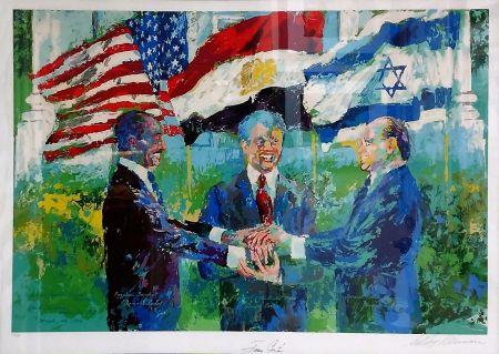 Сериграфия Neiman - WHITE HOUSE SIGNING OF EGYPTIAN ISRAELI PEACE TREATY