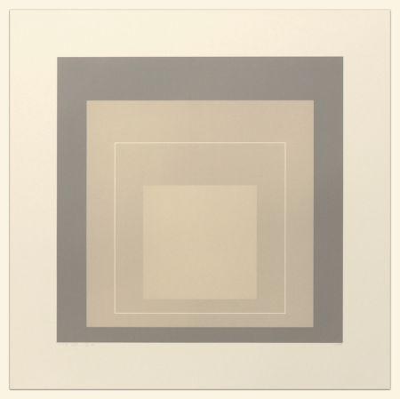 Литография Albers - White Line Squares (Series II), XIV