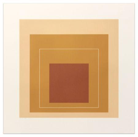 Литография Albers - White Lines Square XVI