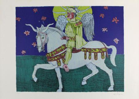Литография De Rosa - Winged Rider