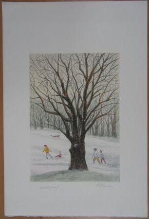 Литография Altman - Winter in the Park