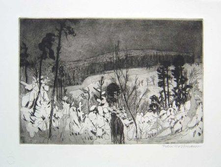 Офорт И Аквитанта Hoffmann - Winter Wanderer