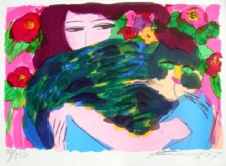Литография Ting - Woman 3