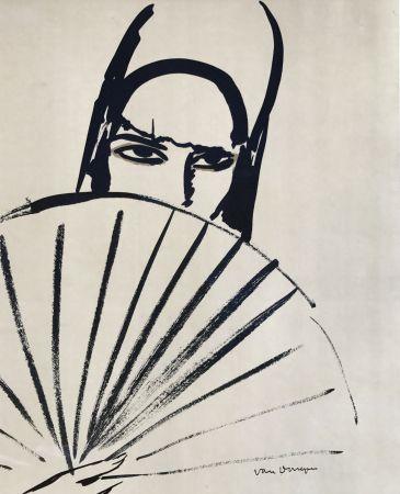 Литография Van Dongen - Woman With Fan