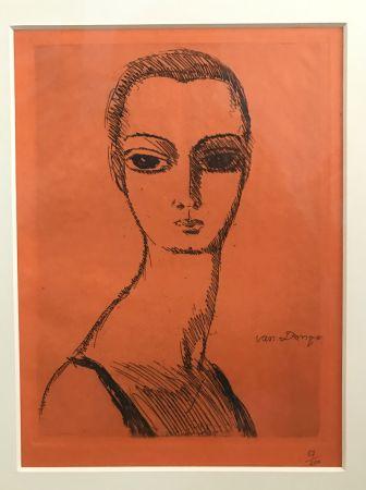 Гравюра Van Dongen - Woman with swann neck