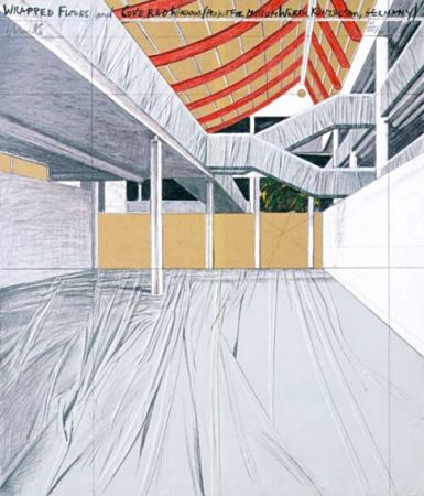 Многоэкземплярное Произведение Christo - Wrapped Floors and Covered Windows, Museum Würth