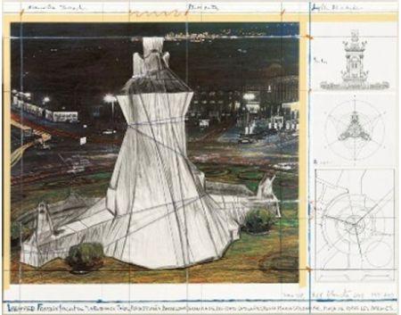Литография Christo - Wrapped Fountain