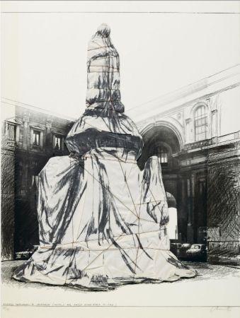 Многоэкземплярное Произведение Christo - Wrapped Monument To Leonardo