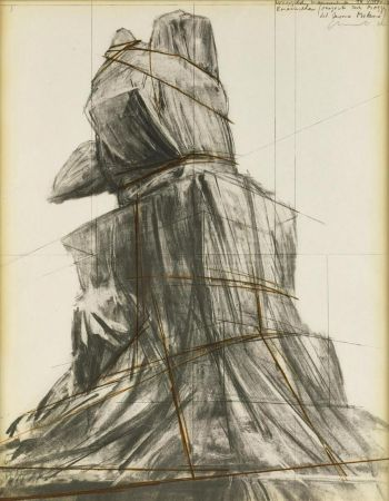 Литография Christo - Wrapped monument to Vittorio Emanuele