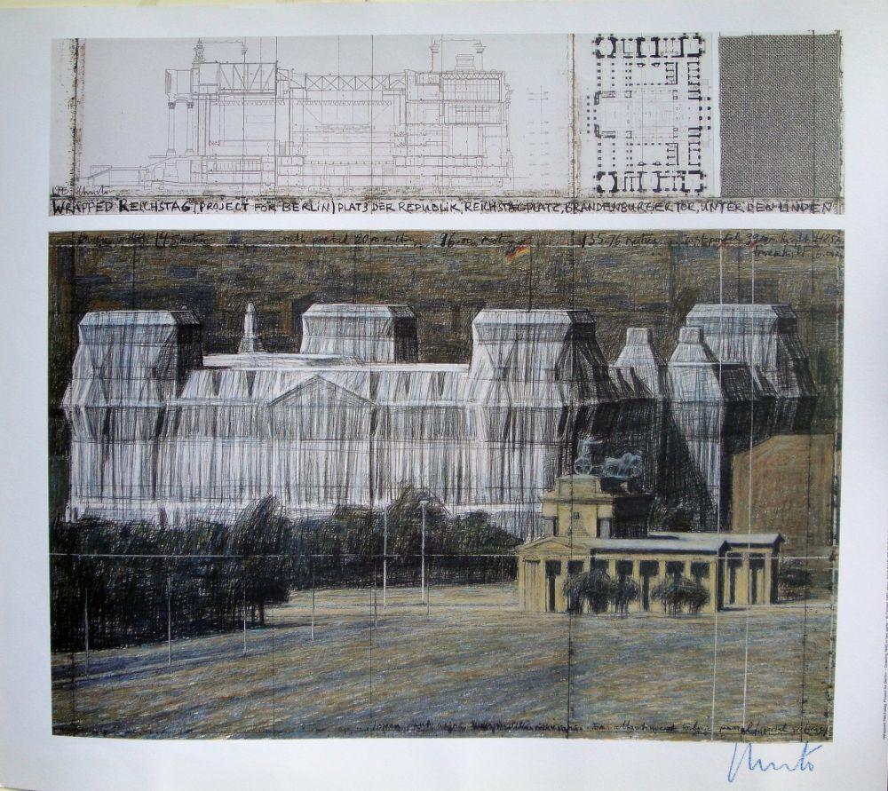 Сериграфия Christo - Wrapped Reichstag VI
