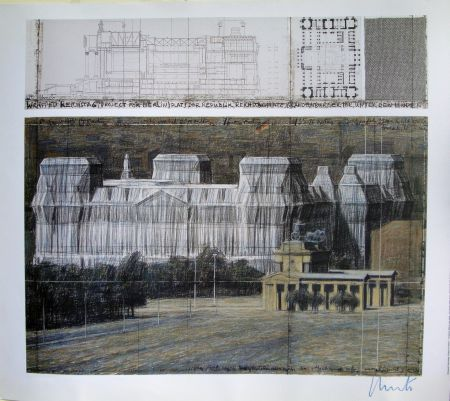Сериграфия Christo - Wrapped Reichstag VI