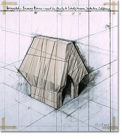 Литография Christo - Wrapped Snoopy House