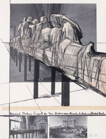 Сериграфия Christo - Wrapped Statues - Project for Der Glyptothek