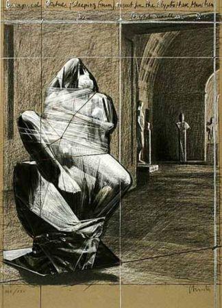 Многоэкземплярное Произведение Christo - Wrapped Statues, Sleeping Fawn, Project For The Glyptothek
