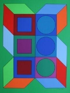Сериграфия Vasarely - XICO 2