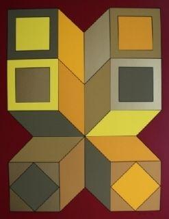 Сериграфия Vasarely - XICO 6